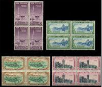Изображение Новая Зеландия 1948 г. Gb# 692-5 • 1 - 6 d. • 100-летие образования региона Отаго • MNH OG XF • полн. серия • кв. блоки