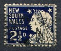 Изображение Австралия • Новый Южный Уэльс 1897-1899 гг. Gb# 297 • 2 1/2 d. • осн. выпуск • королева Виктория • Used VF ( кат.- £3 )