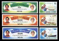 Изображение Невис 1981 г. SC# 135-40 • 55 c. - 5$ • Свадьба принца Чарльза и Дианы • MNH OG XF • полн. серия