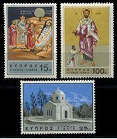 Изображение Кипр 1966 г. Gb# 274-6 • 15 - 100 m. • 1900 лет со дня смерти св. Варнавы • MNH OG XF • полн. серия