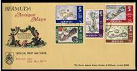 Изображение Бермуды 1979 г. SC# 380-4 • 8 - 50 c. • Старинные карты островов • Used(СГ) XF • полн. серия • КПД