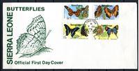 Изображение Сьерра-Леоне 1979 г. SC# 447-50 • 5 c. - 1 Le. • Бабочки • Used(СГ) XF • полн. серия • КПД