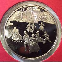 Изображение США 1985 г. • Рождественские каникулы • медаль • MS BU люкс! • пруф