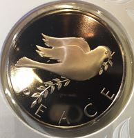 Picture of США 1985 г. • Рождественские каникулы • голубь мира • медаль • MS BU люкс! • пруф