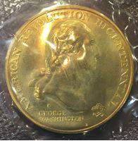 Изображение США 1972 г. • 200-летие американской революции • Джордж Вашингтон • медаль • MS BU • пруф