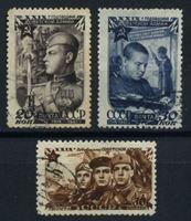 Изображение СССР 1947 г. Сол# 1136-8 • 30-лет Советской армии • Used(ФГ) XF • полн. серия
