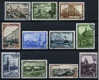 Изображение СССР 1947 г. Сол# 1163-73 • 800 лет Москвы • 1-й выпуск • Used VF • полн. серия
