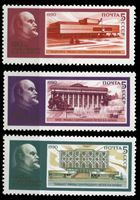Bild von СССР 1990 г. Сол# 6194-6 • Музеи В. И. Ленина • MNH OG XF • полн. серия