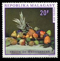 Picture of Мадагаскар 1970 г. SC# 446 • 20 fr. • Фрукты Мадагаскара (картина) • MNH OG XF