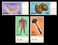 Изображение Фиджи 1978 г. SC# 389-92 • 4 - 30 c. • Местные артефакты • MNH OG VF • полн. серия