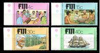 Изображение Фиджи 1979 г. SC# 401-4 • 4 - 40 c. • 100-летие иммиграции индусов на Фиджи • MNH OG XF • полн. серия