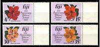 Изображение Фиджи 1977 г. SC# 376-9 • 4 - 35 c. • Юбилей фестиваля гибискуса • цветы • MNH OG XF+ • полн. серия