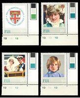 Изображение Фиджи 1982 г. SC# 470-3 • 20 c. - 1$ • 21-летие принцессы Дианы • MNH OG XF+ • полн. серия ( кат.- $7 )