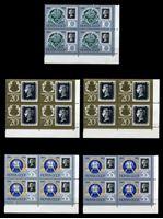 Изображение СССР 1990 г. Сол# 6186-8A • 150-летие почтовой марки • MNH OG XF • полн. серия • кв. блоки