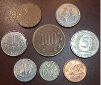 Изображение Иностранные монеты • Америка (набор 8 разных типов) • регулярный выпуск • VF-UNC