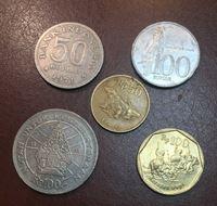 Изображение Иностранные монеты • Индонезия (набор 5 разных типов) • регулярный выпуск • VF-UNC