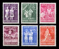 Picture of Индонезия 1954 г. SC# B77-82 • Охрана здоровья детей • благотворительный выпуск • MNH OG XF • полн. серия