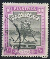 Изображение Судан 1948 г. Gb# 109 • 10 pt • воин-бедуин на верблюде • стандарт • Used VF ( кат.- £9 )