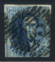 Изображение Бельгия 1851-4 гг. SC# 7 • 20 c. • король Леопольд I • Used XF- ( кат.- $8 )