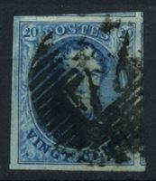 Изображение Бельгия 1851-4 гг. SC# 7 • 20 c. • король Леопольд I • Used XF ( кат.- $8 )