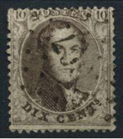 Изображение Бельгия 1863-5 гг. SC# 14 • 10 c. • король Леопольд I • Used XF ( кат.- $4 )