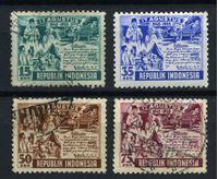 Изображение Индонезия 1955 г. SC# 406-9 • 15 - 75 s. • 10-летие независимости Республики • Used VF • полн. серия ( кат.- $4 )