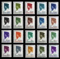 Изображение Индонезия 1966 г. SC# 668..686B • 1 s. - 25 Rp. • президент Сукарно (20 марок) • благотворительный выпуск • MNH OG XF • полн. серия ( кат.- $6 )