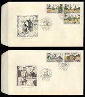 Изображение Чехословакия 1979 г. SC# 2255-9 • 20 h. - 3.60 k. • История развития велосипеда • Used(СГ) XF • полн. серия • КПД
