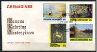 Image de Гренада и Гренадины 1981 г. SC# 421-4 • 6 - 90 c. • Живопись • Used(СГ) XF • КПД