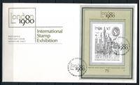 Изображение Великобритания 1980 г. SC# 909a • 50 p. • Филателистическая выставка • вид Лондона • Used(СГ) XF • блок • КПД