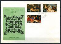Изображение Ниуэ 1980 г. SC# 262-4 • 25 - 35 c. • Живопись (пасхальные сюжеты) • Used(СГ) XF • полн. серия • КПД
