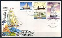 Изображение Невис 1980 г. SC# 114-7 • 5 c. - 3$ • Лодки и парусники • Used(СГ) XF • полн. серия • КПД