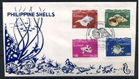 Изображение Филиппины 1980 г. SC# 1491-4 • 40 s. - 2 p. • Морские раковины • Used(СГ) XF • полн. серия • КПД