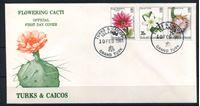Bild von Теркс и Кайкос 1981 г. SC# 471-3 • 25 - 55 c. • Цветущие кактусы • Used(СГ) XF • КПД
