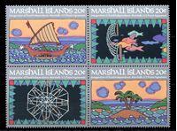 Изображение Маршалловы Острова 1984 г. SC# 31-4a • 20 c.(4) • Открытие почтового офиса • MNH OG XF • полн. серия • кв.блок ( кат.- $3 )