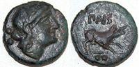 Изображение Древняя Греция • Лукания. Пестум (Посейдония). Начало I в. до н.э. • регулярный выпуск • VF+