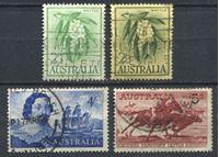 Изображение Австралия • XX век Gb# • лот 4 старые марки • большие номиналы • Used VF ( кат.- £5 )