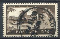 Изображение Великобритания 1955-8 гг. Gb# 536 • 2s.6d. • Замки Великобритании • Кэррикфергюс • стандарт • Used VF ( кат.- £2,5 )