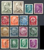 Изображение Германия • 193х - 196х гг. • лот 16 разных старых марок • 3-й рейх, Веймар ... • Used VF