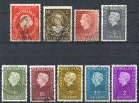 Изображение Нидерланды • 194х - 196х гг. • лот 9 разных старых марок • до 5 гульденов • стандарт • Used VF