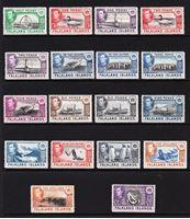 Изображение Фолклендские о-ва 1938-1950 гг. Gb# 146-163 • MLH OG XF • полн. серия ( кат.- £500 )
