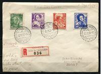 Изображение Швейцария 1937 г. • Mi# 306-9 • подделка под КПД • Национальные костюмы • благотворительный выпуск • полн. серия • Used(СГ) VF