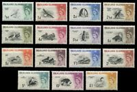 Изображение Фолклендские о-ва 1960-1966 гг. • Gb# 193-207 • ½ d. - 1£ • Елизавета II основной выпуск • Птицы • полн. серия • MNH OG XF ( кат.- £ 170 )
