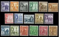 Изображение Мальта 1956-1958 гг. • Gb# 266-82 • ¼ d. - £1 • Георг VI основной выпуск • Памятники и архитектура • MNH OG XF • полн. серия ( кат.- £130 )