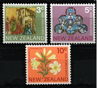 Изображение Новая Зеландия 1974 г. • SC# 560-2 • 3 - 10 c. • Рождество • MNH OG XF • полн. серия