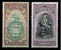 Изображение Тринидад и Тобаго 1951 г. • Gb# 265-6 • 3 и 12 c. • Открытие Университета Карибских территорий • MH OG VF • полн. серия