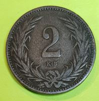 Изображение Венгрия 1895 г. • KM# 481 • 2 филлера • корона • регулярный выпуск • XF-