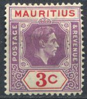 Изображение Маврикий 1938-1949 гг. • Gb# 253 • 3 c. • Георг VI • стандарт • MH OG VF